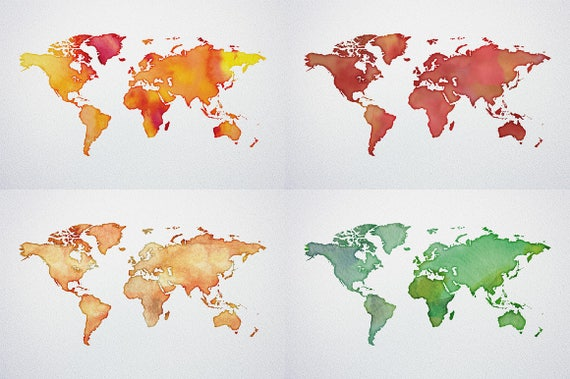 Buy watercolor world map printable poster 18 vector and raster buy watercolor world map printable poster 18 vector and raster worldmap jpgepspng etsy instant download free sample gumiabroncs Gallery