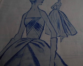 SALE Vintage 1960's Modes Royale 1739 Evening or Bridal Gown Sewing Pattern, Size 12 Bust 32