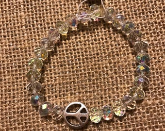 Peace bracelet with bling
