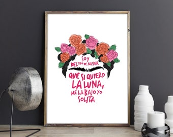 Frida Quote Digital Print