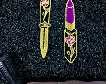 Lipstick + Dagger patches