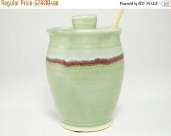 ON SALE Honey Canister - Honey Pot - Jar For Honey - Ceramic Honey Jar - Pot for Honey - Sugar Bowl - Canister For Honey - Jam Jar - In Stoc