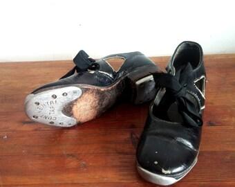 Antique, Little Girl's Tap Shoes