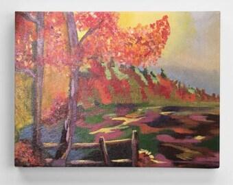 Acrylic Painting- Autumn Landscape