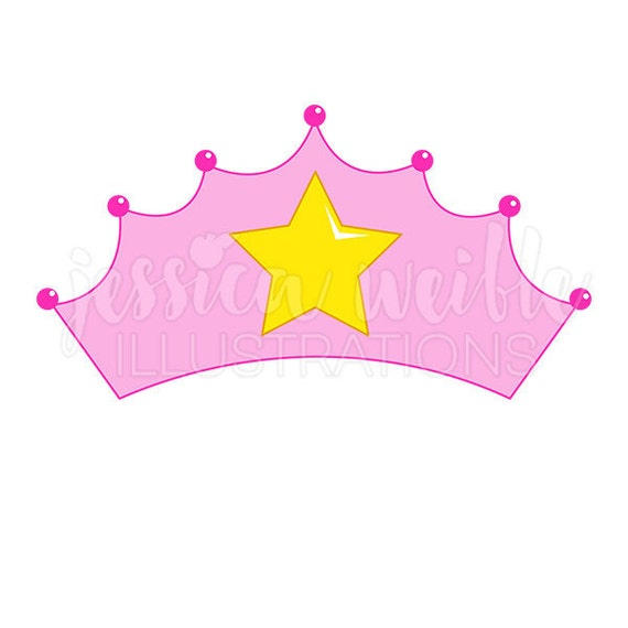 pink princess crown cute digital clipart princess crown clip art rh etsystudio com princess crown clip art black and white princess crown clipart