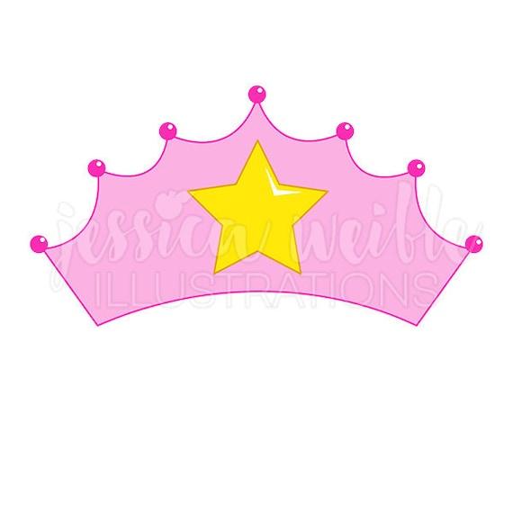 pink princess crown cute digital clipart princess crown clip rh etsy com princess crown clipart free download princess crown clip art black and white