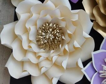 Modèle de fleur de papier, papier à motif fleur, fleur en papier de bricolage, grand papier à motif fleur, tuto fleur de papier, décor fleur bricolage,