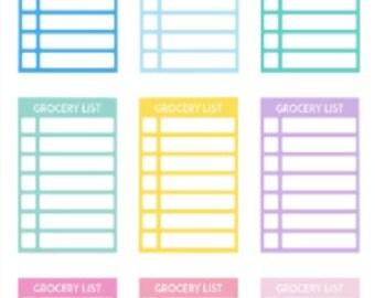 Grocery List | 829 | Planner Sticker | Kikki-K | Happy Planner | Erin Condren