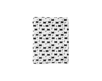 Bat Mask Minky Blanket, Minky Baby Blanket, Monochrome Baby Blanket, Newborn Blanket, Black White Baby Blanket, Super Hero Cloud Blanket
