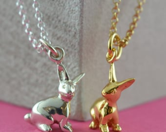 Bunny Charm Necklace - Rabbit Charm Necklace - Bunny Pendant - Rabbit Pendant - Personalised Gift - Bunny Rabbit Jewellery - Gifts for Her