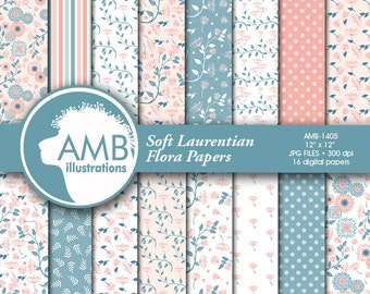 Shabby Chic paper, Floral Digital Papers, Shabby Chic Floral, Wedding papers, Floral Pattern, Commercial use, AMB-1405