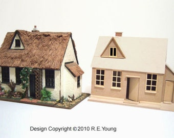 Dolls House Country Cottage - 1/24th Scale Plans