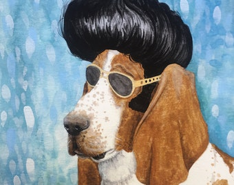 Nothin But a Hound Dog - Unframed 8.5x11 Limited Edition Giclee Print