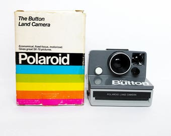 POLAROID Button SX-70 Film Land Instant Camera Vintage Retro With Box Tested Working Classic Cam Functional 80s Retro Vintage