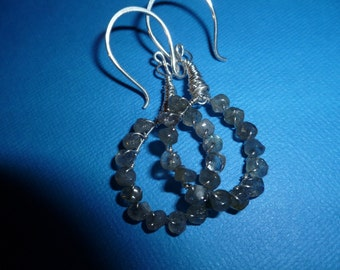Lovely Labradorite Hoops