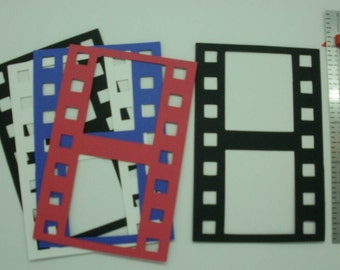 8 Die Cut Card Stock Film Strip Frames Embellishments Color Choice scrapbook cards