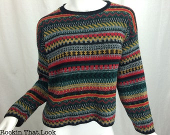 Vintage 80s Multi-Colored Sweater Size Small
