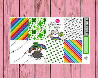 Happy St. Patrick's Day - Itty Bitty Kitty - Leprechaun Mauly - 2 page mini kit