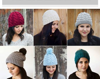 Six Knit Winter Hat Patterns eBook