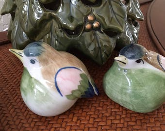 Vintage Salt and Pepper Shakers, Ceramic Bird Salt and Pepper Shakers, Salt and Pepper Shakers