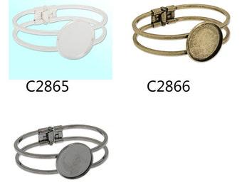 10PCS Bracelet With 25MM Round Bezel ,Cuff,Adjustable,bracelet blanks,cuff bracelet blank