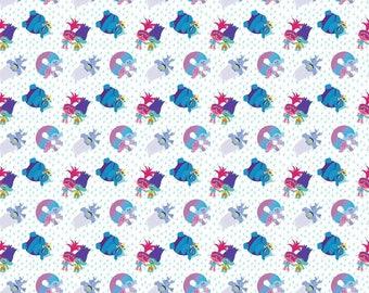 Dreamworks Trolls Troll  Fabric Troll Toss Cotton Fabric Springs Creative BTY