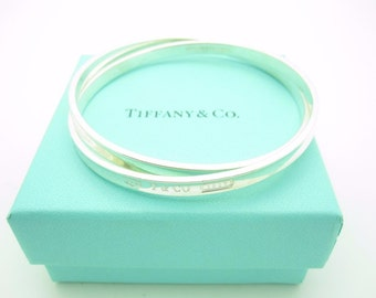 Tiffany & Co. Sterling Silver 1837 Collection Interlocking Circles Bracelet