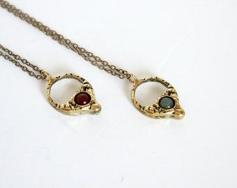 Minimalist necklace crystal necklace witch jewelry boho jewelry unisex jewelry black onyx pedant turquoise jewelry gift for her under 50