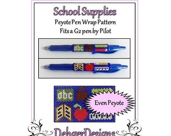 Bead Pattern Peyote(Pen Wrap/Cover)-School Supplies