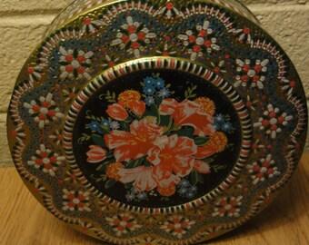 Vintage Decorative Storage Tin