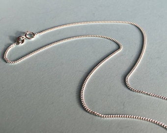 """Sterling Silver New Chain for Charm or Pendant. Diamond Cut Curb Chain, 2 Lengths, 16"""" or 18"""""""