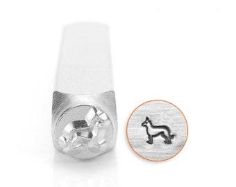 6mm German Shepherd Metal Stamp, ImpressArt Dog Breed Design Stamp, Impress Art Stamps, DIY Jewelry Making Metal Stamping Tools, Supplies