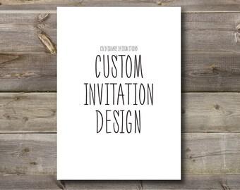 Custom Invitation Design - Wedding Invitations - Showers - Parties By CozySquareStudio