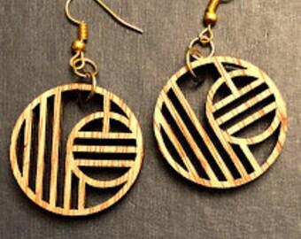 Geometric Circle Earrings