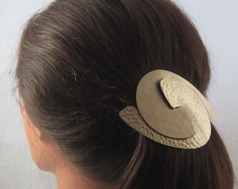 BIG HAIR Interlocking Spiral 100mm French Barrette- Hair Accessories- Barrettes and Clips- Large Barrette- Hair Clips-