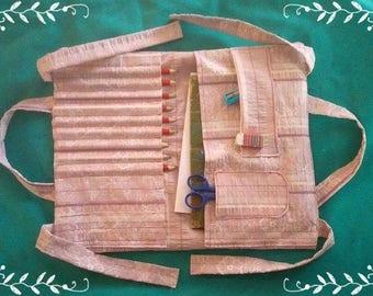 Kit, artist bag, wallet, notebook, pencil, fittings, padded