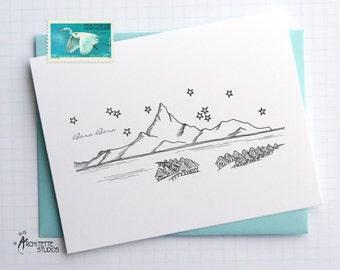 Bora Bora Island - Asia/Pacific - Instant Download Printable Art - City Skyline Series