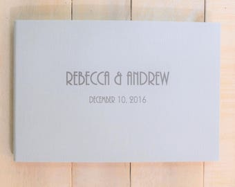 Personalized Wedding Guest Book - Gatsby  Contemporary Guest Book