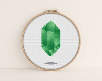 Peridot Cross Stitch Pattern PDF / Crystal cross stitch / Instant Printable PDF Download / August Cross Stitch / simple cross stitch