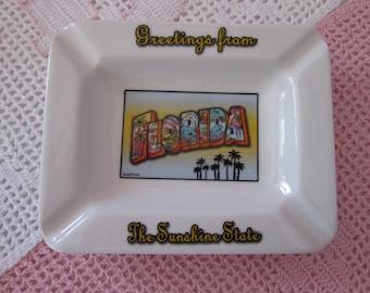 Vintage Florida ashtray / Vintage Ashtray of Florida