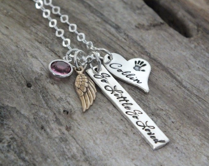 Infant loss necklace | Baby loss keepsake | Pregnancy loss jewelry | Infant loss memorial gifts | Still born memorial