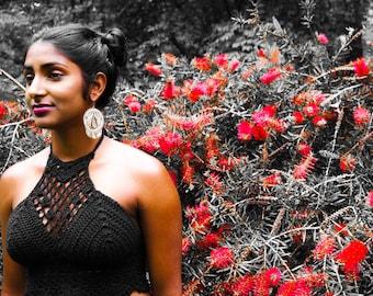 Shanti Crocheted Halter Top