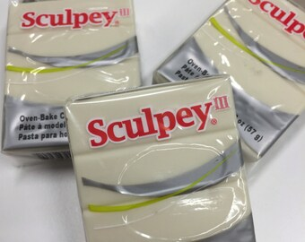 Sculpey III Glow in the Dark Oven-Bake Clay - 2oz Polymer Oven-Bake Clay, New, Original Packaging, Polymer Clay supplies, Sculpey, Fimo