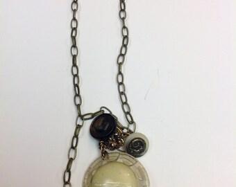 A Golden Vintage Button Necklace