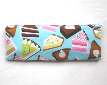 Skinny Cakes and Pies Zipper Pouch / Pencil Case