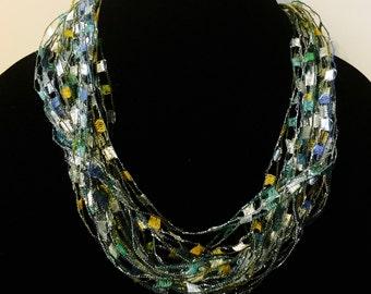 Lace necklace bib necklace