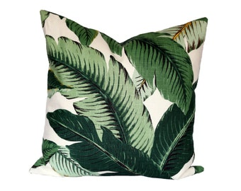 Banana Palm Linen designer pillow covers - Made to Order