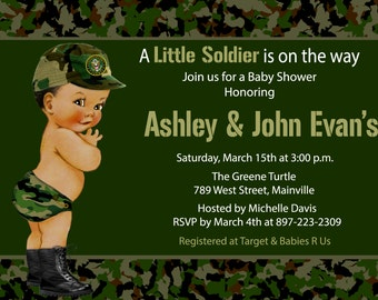 Camo invitation etsy army camo camouflage soldier military baby shower invitation filmwisefo