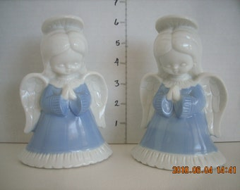 "2 'Twin"" Porcelain  praying Angels"