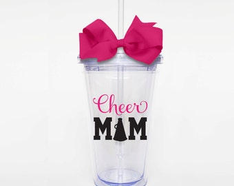 Cheer Mom - Acrylic Tumbler Personalized Cup